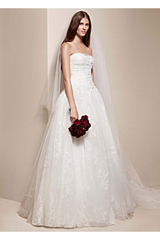 White by Vera Wang All Over Floral Wedding Dress VW351167