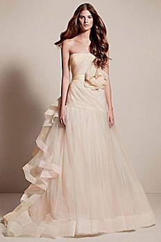 White by Vera Wang Tricolored Draped Wedding Dress VW351199