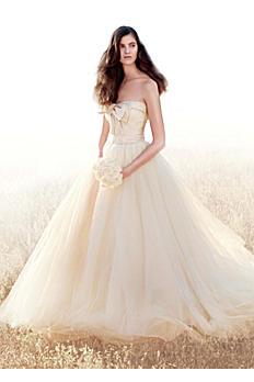 White by Vera Wang Matelasse Floral Wedding Dress VW351213
