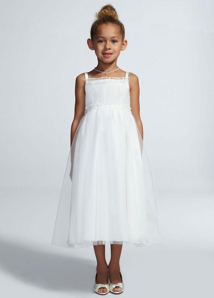 David 39 s bridal spaghetti strap tulle ball gown style wg1347 for Spaghetti strap ball gown wedding dress