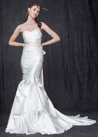 Sweetheart Charmeuse Gown with Pick-Up Skirt