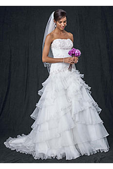 Pleated Ball Gown with Lace-Up Back AI10012193