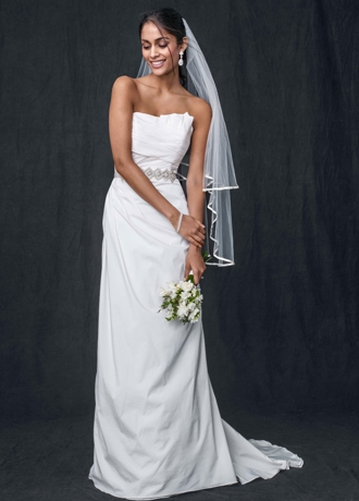 Taffeta Strapless A-line Wedding Gown WG3457