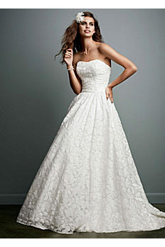 Lace Ball Gown with Intricate Embroidered Details AI16010055