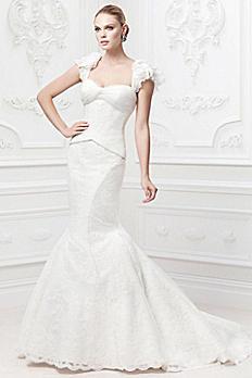 Truly Zac Posen Flutter Sleeve Wedding Dress ZP345003