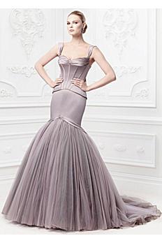 Truly Zac Posen Corseted Satin Wedding Dress ZP345044