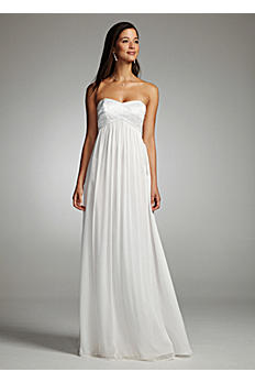 Chiffon Gown with Beaded Strapless Bodice 54602-B