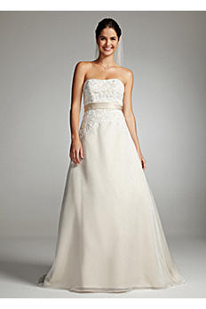 Strapless Organza and Lace Wedding Dress OP1226