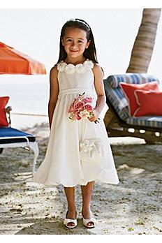 Taffeta Bubble Hem Dress with Floral Detail AI17040365