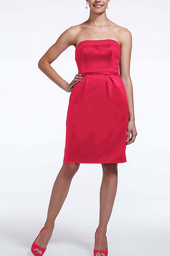 Short Satin Dress with Back Bow Detail F15606