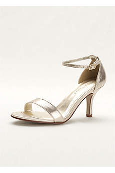 David's Bridal Grey Sandals (Single Strap Sandal)