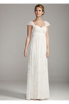 Floral Burnout Chiffon Gown 859695D