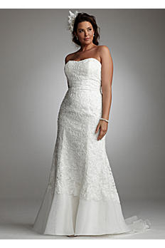 Lace Over Charmeuse Gown with Soutache Detail 9SWG400