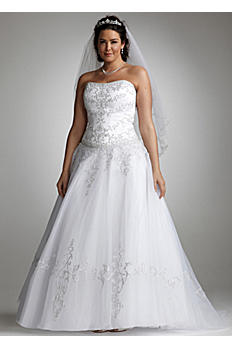 Strapless Tulle Ball Gown with Satin Bodice AI13011624