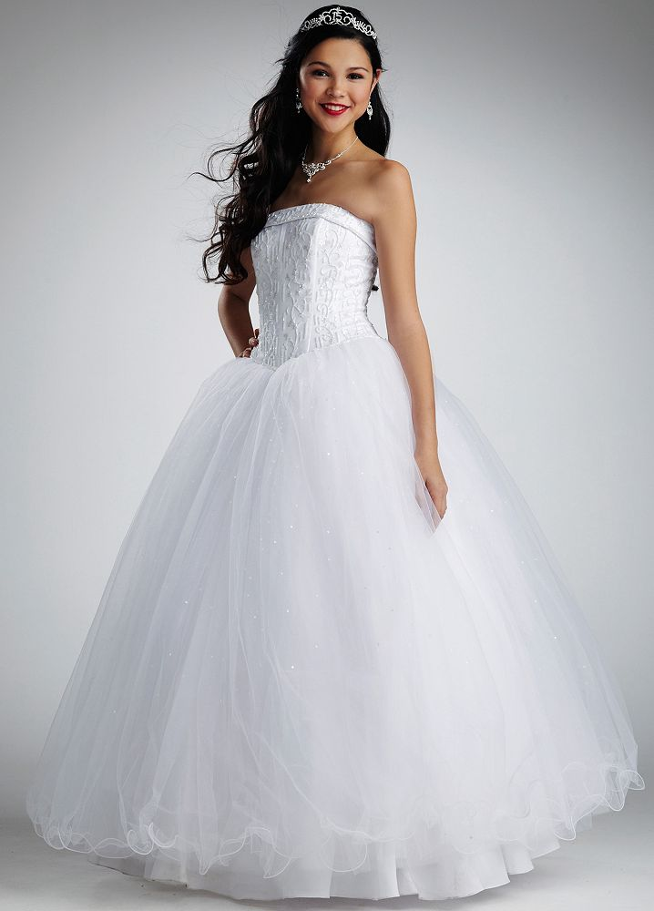 david 39 s bridal sample strapless tulle ball gown wedding
