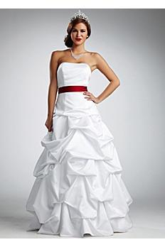 Strapless Satin Pick Up Wedding Dress NTT9309