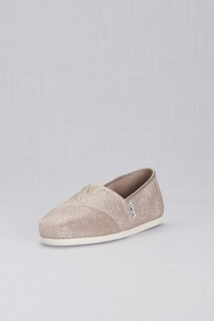 3478d16f119 TOMS Pink (TOMS Rose Gold Glimmer Classic Slip-On Shoes). Save