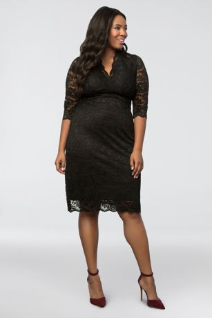 Black Cocktail Dresses with Sleeves