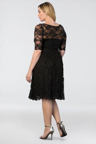 29b61bfd204 Short Sheath 3 4 Sleeves Cocktail and Party Dress - Kiyonna. Save