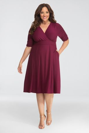 480cf6bcdc4 Gabriella Printed Plus Size Dress with Ruching