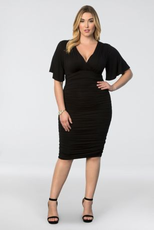 Rumor Ruched Plus Size Dress Davids Bridal