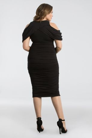 934d1929fe6 Short Sheath Off the Shoulder Cocktail and Party Dress - Kiyonna. Save