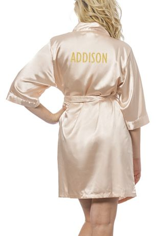 4ce8449a32 Personalized Glitter Script Name Luxury Satin Robe - Wedding Gifts    Decorations. Save