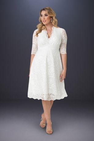 a29d9d93c8180 Plus Size Wedding Belle Short Dress | David's Bridal
