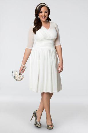 Forever Yours Plus Size Short Wedding Dress Davids Bridal