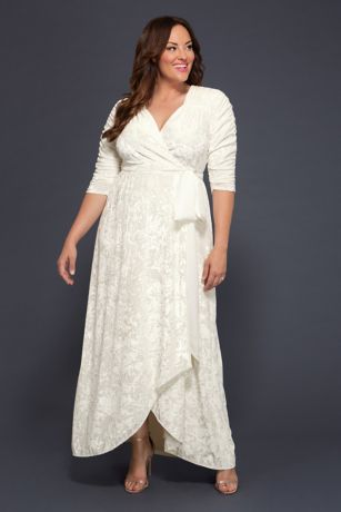 Vie En Velvet Plus Size Wrap Wedding Dress David S Bridal