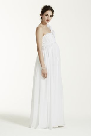 6d2acd8f5ad Floral One Shoulder Chiffon Maternity Dress. 261208D. Long A-Line Beach  Wedding Dress - DB Studio. Long A-Line Beach Wedding Dress - DB Studio. Save