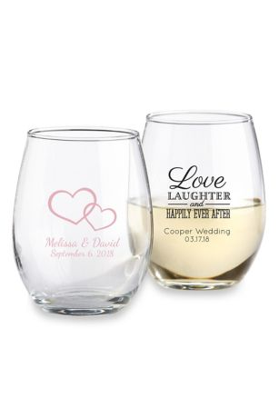 Personalized Stemless Wine Glass David S Bridal