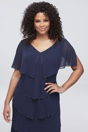 56ca6fd05e7 Short Blue Soft   Flowy SL Fashions Bridesmaid Dress. Save
