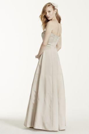 1c91ef158d5 Long Red Structured David s Bridal Bridesmaid Dress. Save