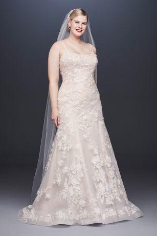 Ballerina Bodice 3D Floral Plus Size Wedding Dress