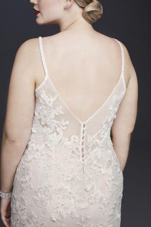 a3cec018370 Ballerina Bodice 3D Floral Plus Size Wedding Dress