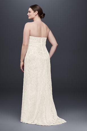 a3ddacd2f7 Lace Empire Waist Plus Size Wedding Dress. 9S8551. Long Sheath Beach  Wedding Dress - Galina. Long Sheath Beach Wedding Dress - Galina. Save