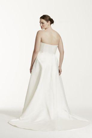 Plus Size Wedding Dress with Beaded Lace Jacket | David\'s Bridal