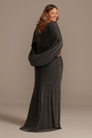 NEW---NO.284 Women\u2019s Drape Front Long sleeve Dress #Mottled Gray