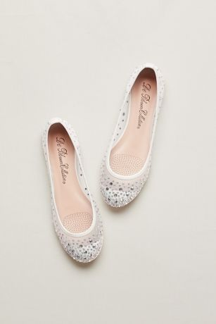 d4373a9f8e215 Ballet Flat with Scattered Crystal Accesnts | David's Bridal