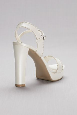 59c906d10e58 Pearlized Platform Sandals with Scalloped Edges. ASIA. 0 Dress - David s  Bridal. 0 Dress - David s Bridal. Save
