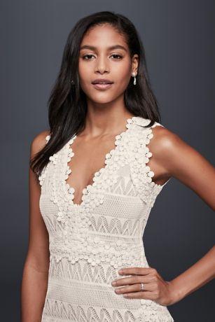 43377b0220 Short Mermaid/ Trumpet Beach Wedding Dress - Nicole Miller. Save