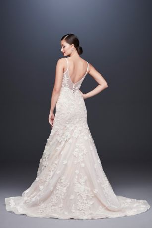 6c2735e879a Ballerina Bodice 3D Floral Trumpet Wedding Dress