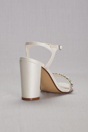 2f756957ad7 Embellished Satin Block Heel Sandals