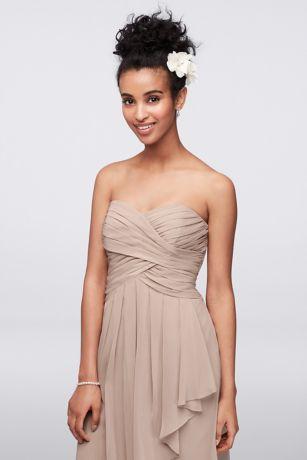 5ed53ab7a7b Short Red Soft   Flowy David s Bridal Bridesmaid Dress. Save