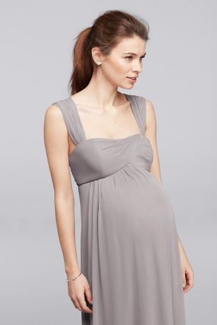f12106f98ad Empire Waist Maternity Dress with Straps