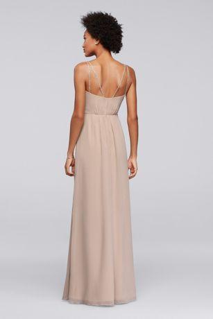 00f84049cbf Long Bridesmaid Dress with Beaded Straps