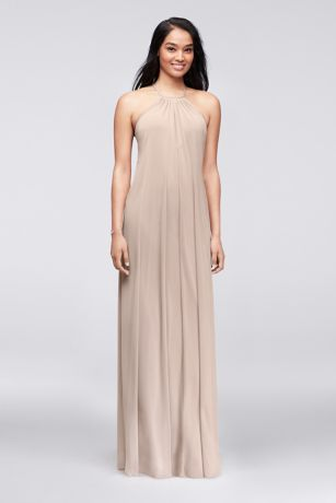 6264c364e9 Long Sheath Romantic Wedding Dress - David s Bridal. Save