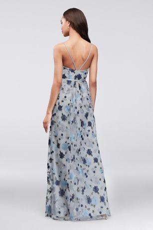 6c50500490a9 Floral Embroidered Tank Bridesmaid Dress | David's Bridal