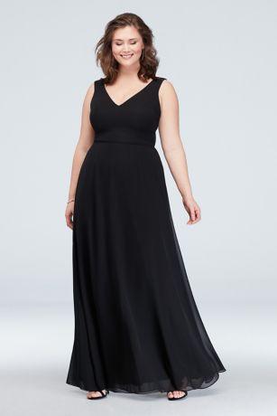 bf44f161f616f Long Pink Soft   Flowy David s Bridal Bridesmaid Dress. Save